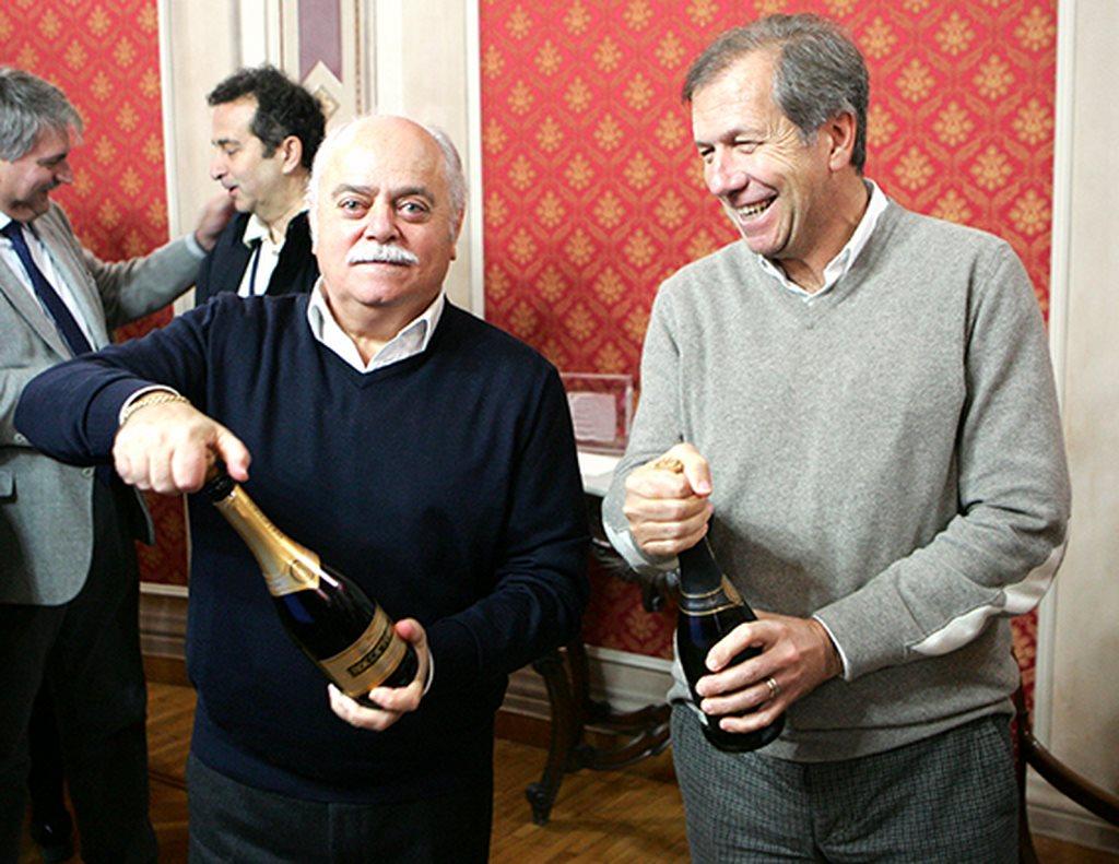 Il brindisi in provincia del presidente Pettinari e della Giunta