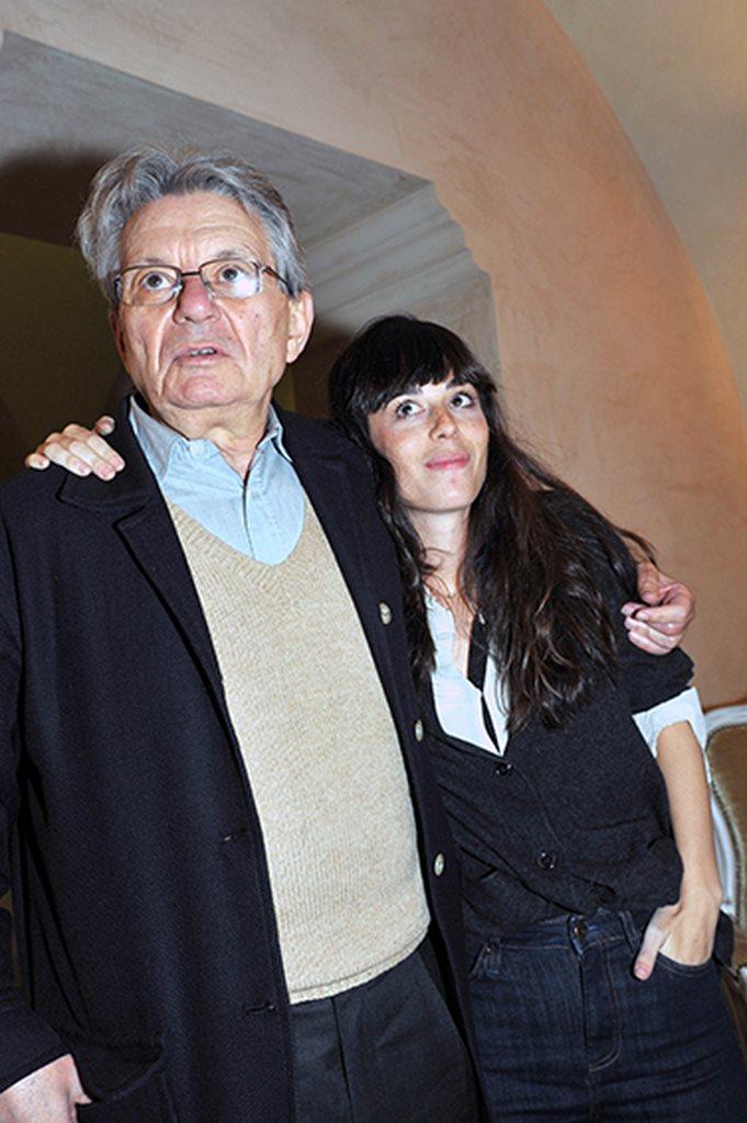 Adriano Sofri con Neige De Benedetti a Macerata