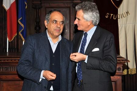 Andrea Angeli con il preside Francesco Adornato