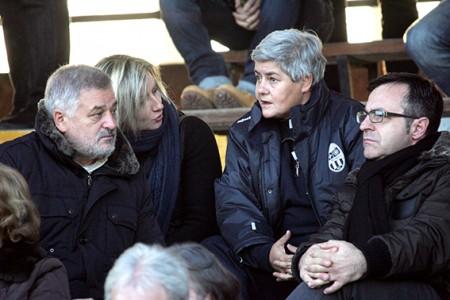 L'assessore Canesin allo stadio con la presidente Maria Francesca Tardella