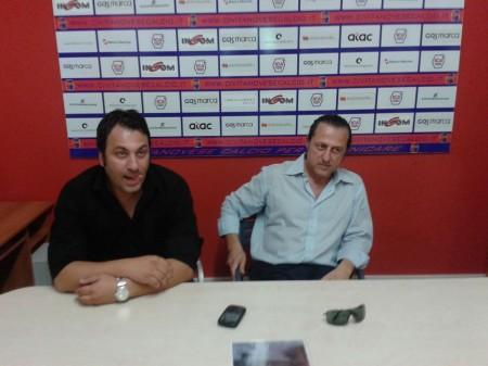 Omar Trovarello e il presidente Di Stefano