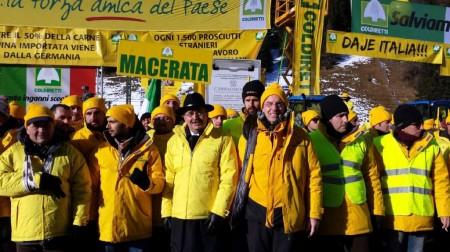 """I presidenti della Coldiretti Marche al Brennero per la """"Battaglia di Natale"""""""