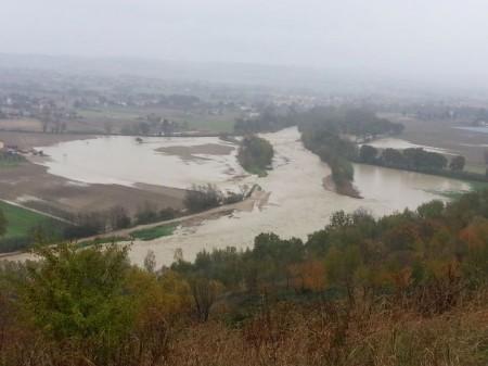 La foto inviata dal Comitato per il fiume Potenza al presidente Spacca