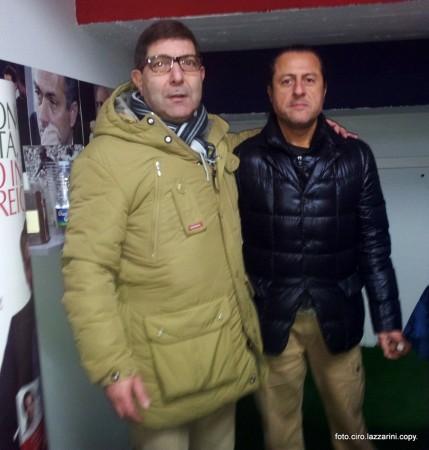Il presidente Attilio Di Stefano (a destra) e il commercialista Franco Santini