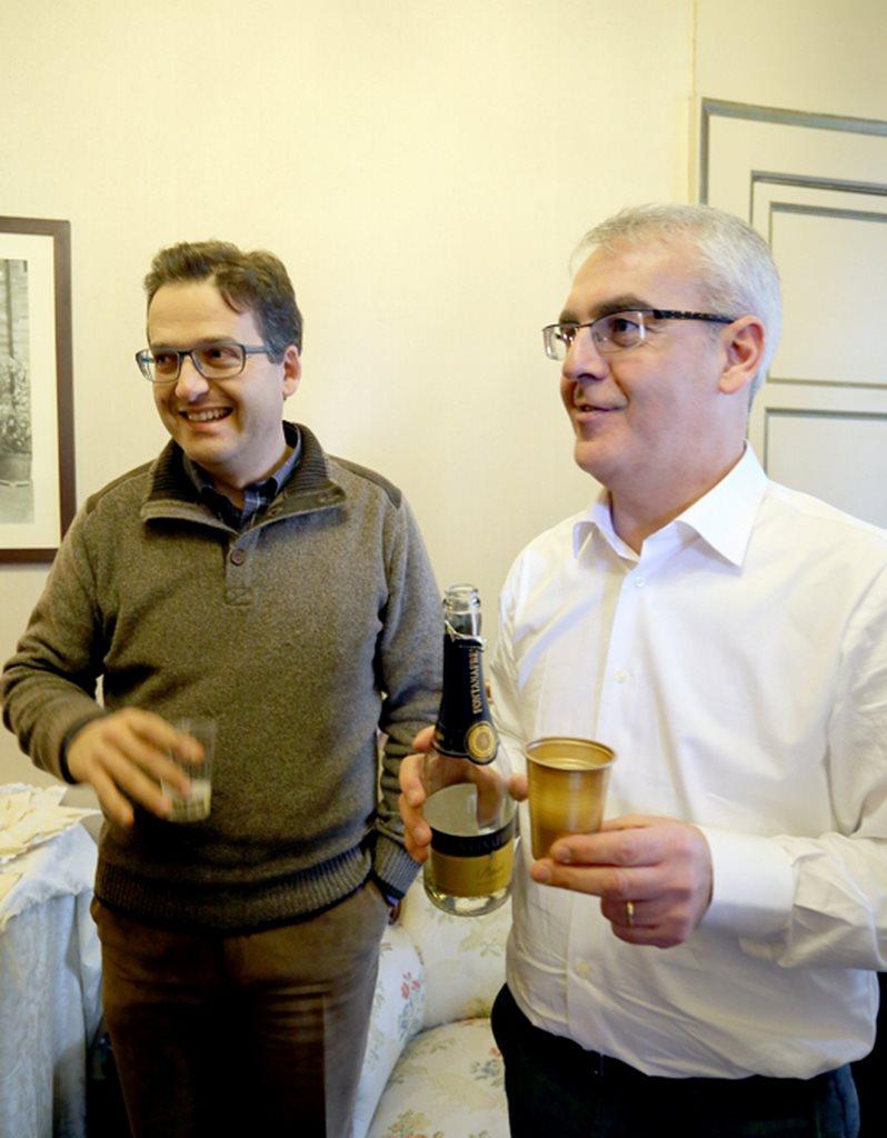 Il sindaco Carancini con il nuovo segretario comunale Giovanni Montaccini