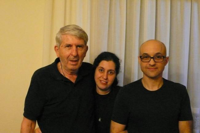 Andrea Minocchi e Michela Gentili con il padre di lei