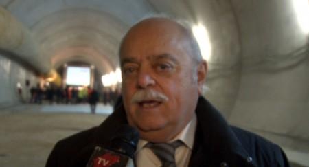 Clicca l'immagine per guardare il video con le dichiarazioni di Spacca e Pettinari durante la cerimonia dello scavo dell'ultima galleria nei cantieri Quadrilatero