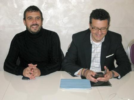 Il segretario Paolo Micozzi (a destra) con Maurizio Saiu, membro del direttivo Pd