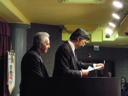 Il professor Manfredo Gentili con il sindaco Franco Ceregioli