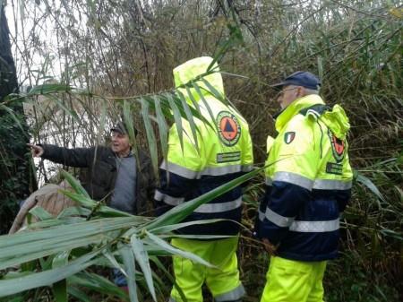 La protezione civile al lavoro a Santa Maria Apparente