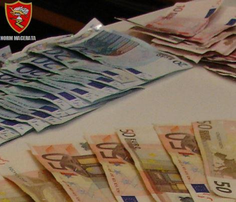 Il denaro sequestrato