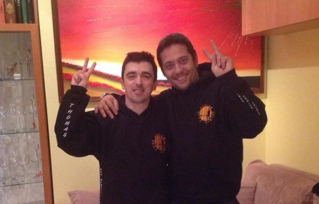 Thomas e il suo amico Michele Micucci