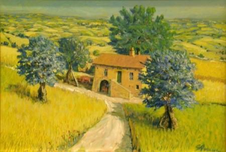 32-Olio-Casa-colonica-con-ulivi-Giancarlo-Amurri-450x303