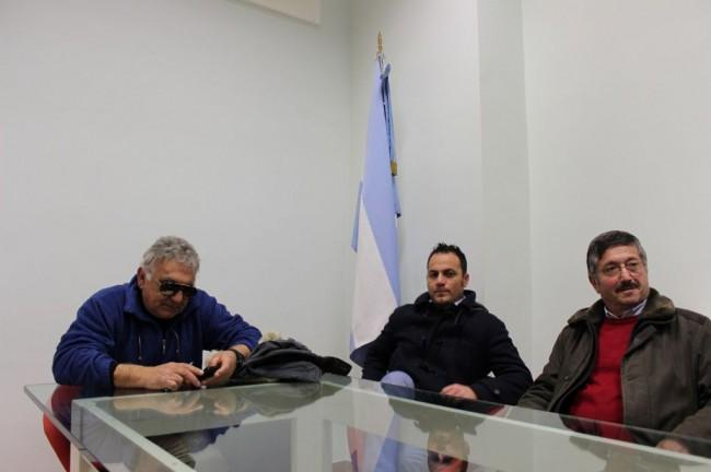Da sinistra: Carlo Centioni, Luciano Diomedi, Gustavo Postacchini