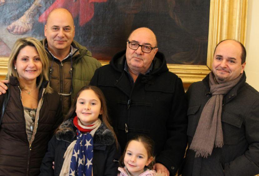 Dante Ferretti oggi a Macerata con la sua famiglia