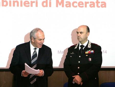 Il procuratore Giovanni Giorgio e il colonnello Leonardo Bertini