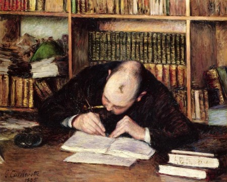 Gustave-Caillebotte-Portrait-of-a-Man-Writing-in-His-Study
