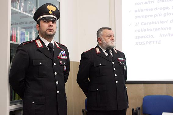 Il maresciallo Martino Di Biase e il luotenente Giuseppino Carbonari