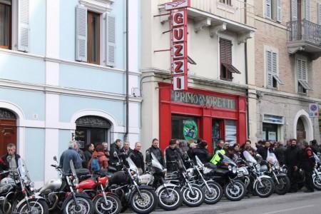 Il raduno a favore della Primo Moretti organizzato dai guzzisti a gennaio a Macerata