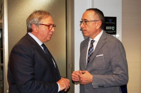 Il presidente della Regione Gian Mario Spacca e Gianni Genga