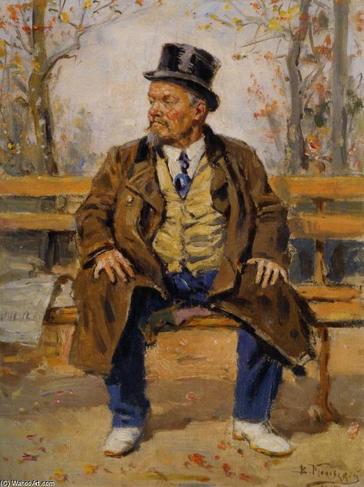 Vladimir-Makovsky-Portrait-of-a-man-sitting-on-a-park-bench