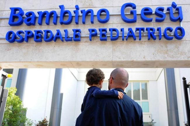 L'ospedale pediatrico Bambino Gesù di Roma dove il piccolo è stato in cura