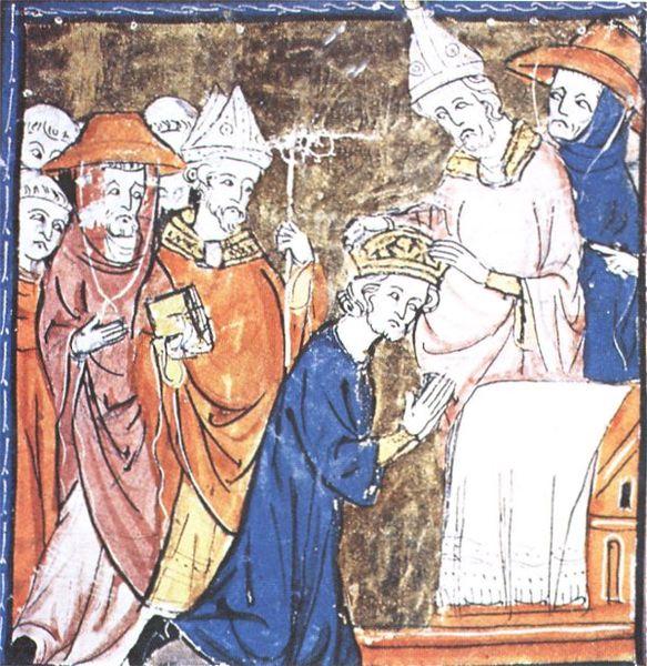 Carlo Magno, incoronato la notte di natale dell'800 da papa Leone III
