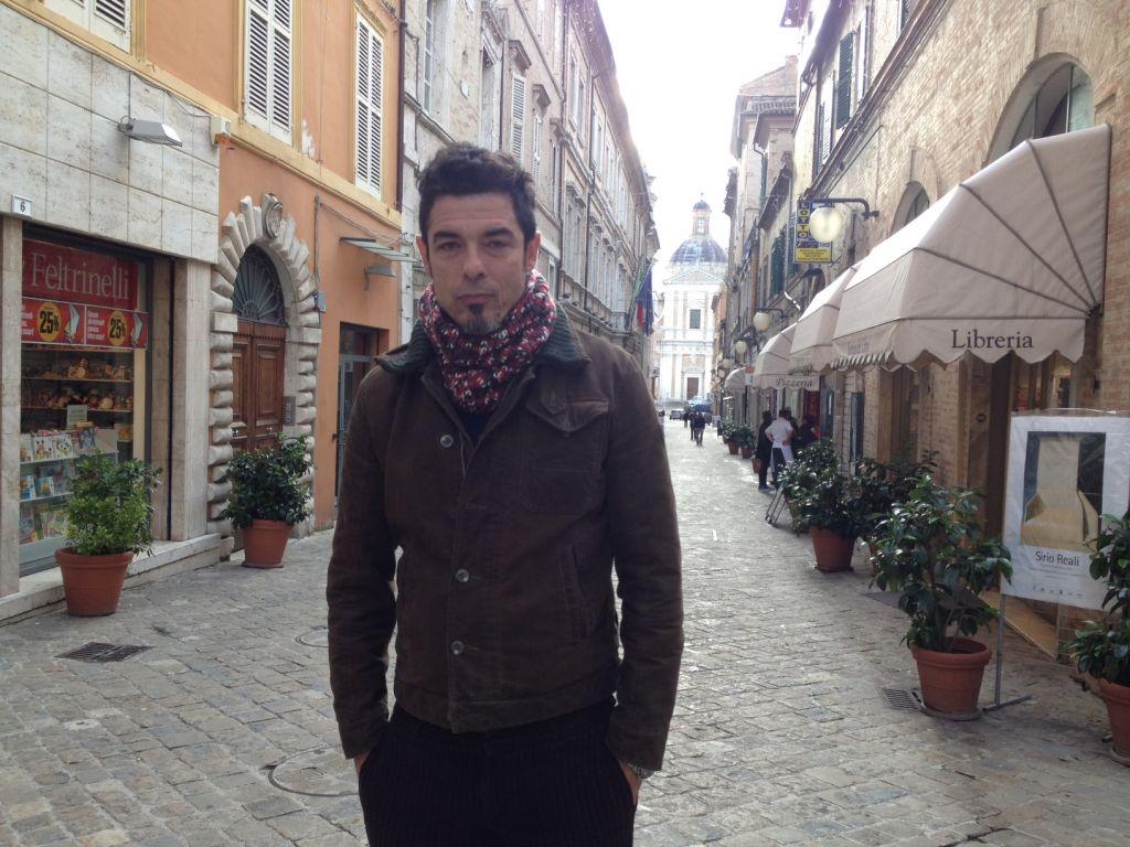 l'attore Alessandro Gassman a Macerata