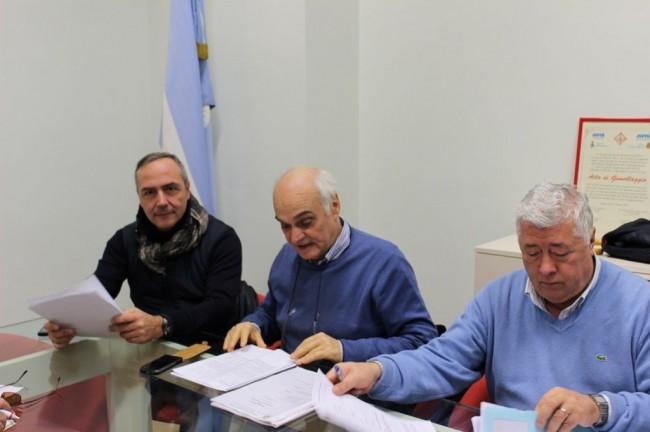 Da sinistra: Giovanni Corallini, Massimo Mobili e Ottavio Brini