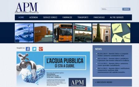 Il sito dell'Apm
