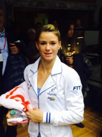 Camila Giorgi con la maglia dell'Italia