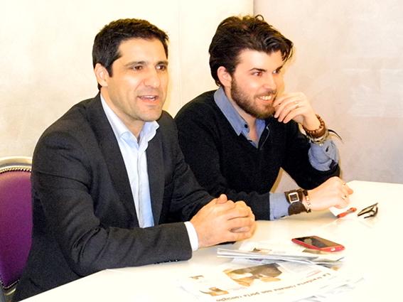 Luca Fioretti con a fianco Andrea Tonnarelli