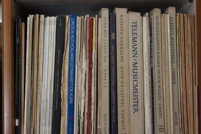 Alcuni dei dischi di musica classica di proprietà di Libero Paci