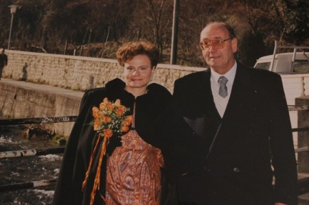 Libero Paci insieme alla moglie Ersilio Nicolai nel giorno del loro matrimonio