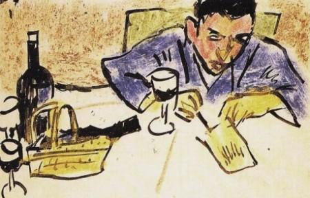 Pechstein-Uomo-che-scrive-una-cartolina-1913-600x385-450x288