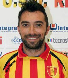 Il centrocampista della Recanatese Sebastianelli