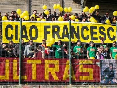 Il tributo degli ultras del Potenza Picena a Francesco Angeloni