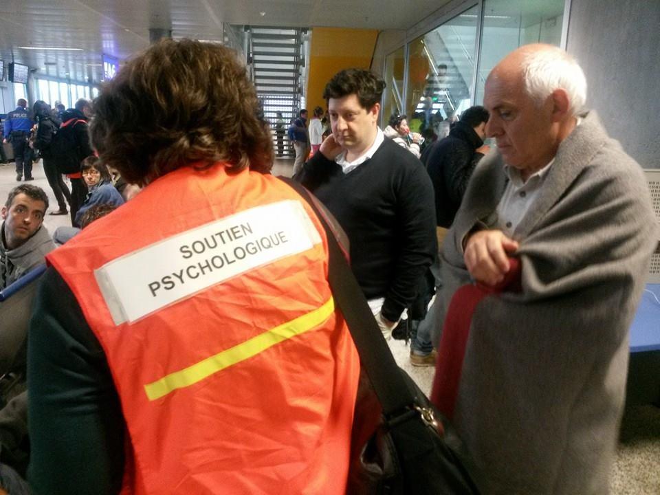I passeggeri all'aereoporto di Ginevra.