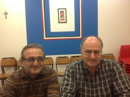 Antonio Trombetta (a sinistra) e Carmelo Ceselli