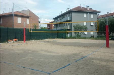 Il campo da beach volley  com'era