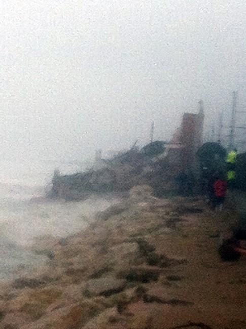La casa crollata a Torrenova, località di Porto Potenza