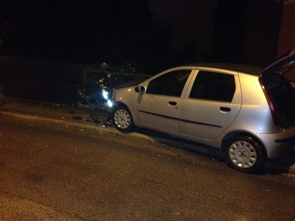 La Fiat Punto incidentata