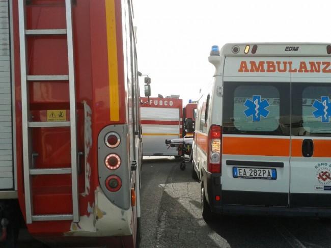 I mezzi di soccorso in superstrada