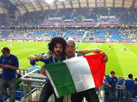 Alla partita dell'Italia con l'amico Gianluca