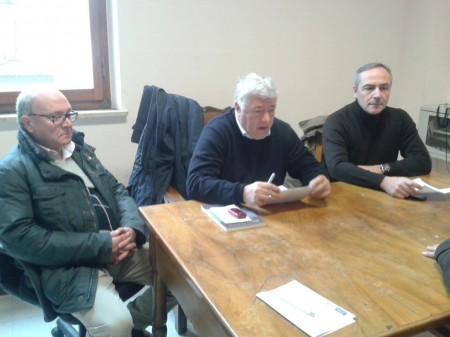 da sinistra Sergio Marzetti, Ottavio Brini e Giovanni Corallini