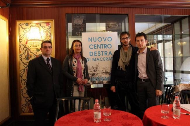 Da sinistra: Stefano Spaventa, Barbara Arzilli, Marco Guzzini e Gabriele Mincio