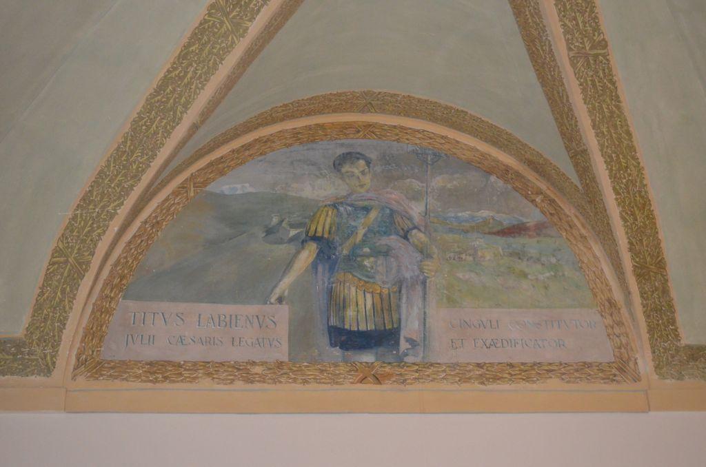 Particolare di uno degli affreschi