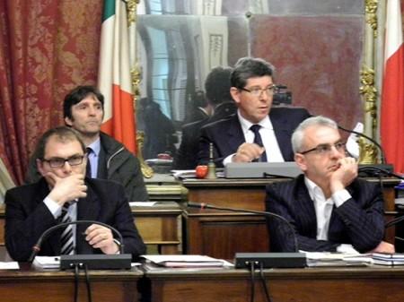 L'assessore al bilancio Marco Blunno insieme al sindaco Romano Carancini