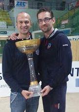Corsano e Swiderski si coccolano la Coppa di Polonia vinta dal Kedzerzin
