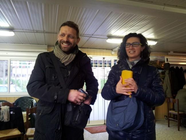 Fabio Trojani con sua moglie